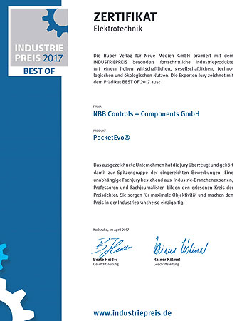 NBB Controls + Components GmbH Industriepreis 2017